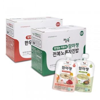 맘마짱 이유식 한우버섯불고기진밥(10봉)+전복노른자진밥(10봉)